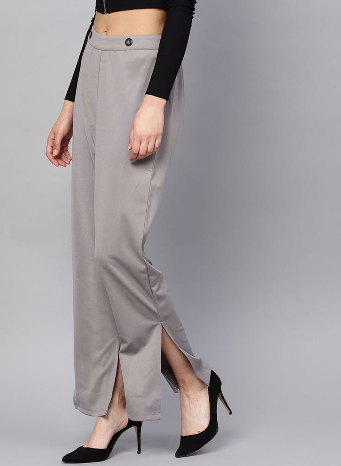 Loose Fir Trouser With Front Slit