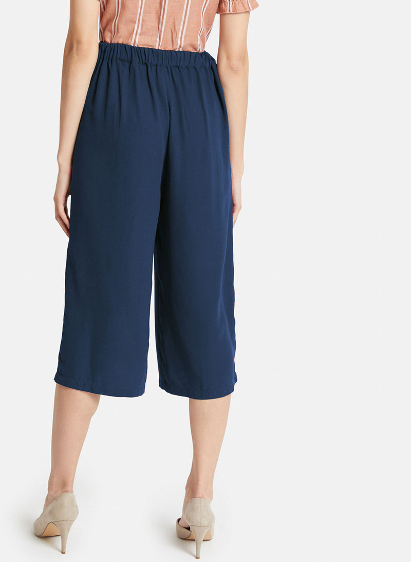 Detailed Pleated Culottes
