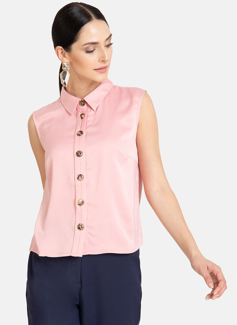 Half Placket Show Detail Top