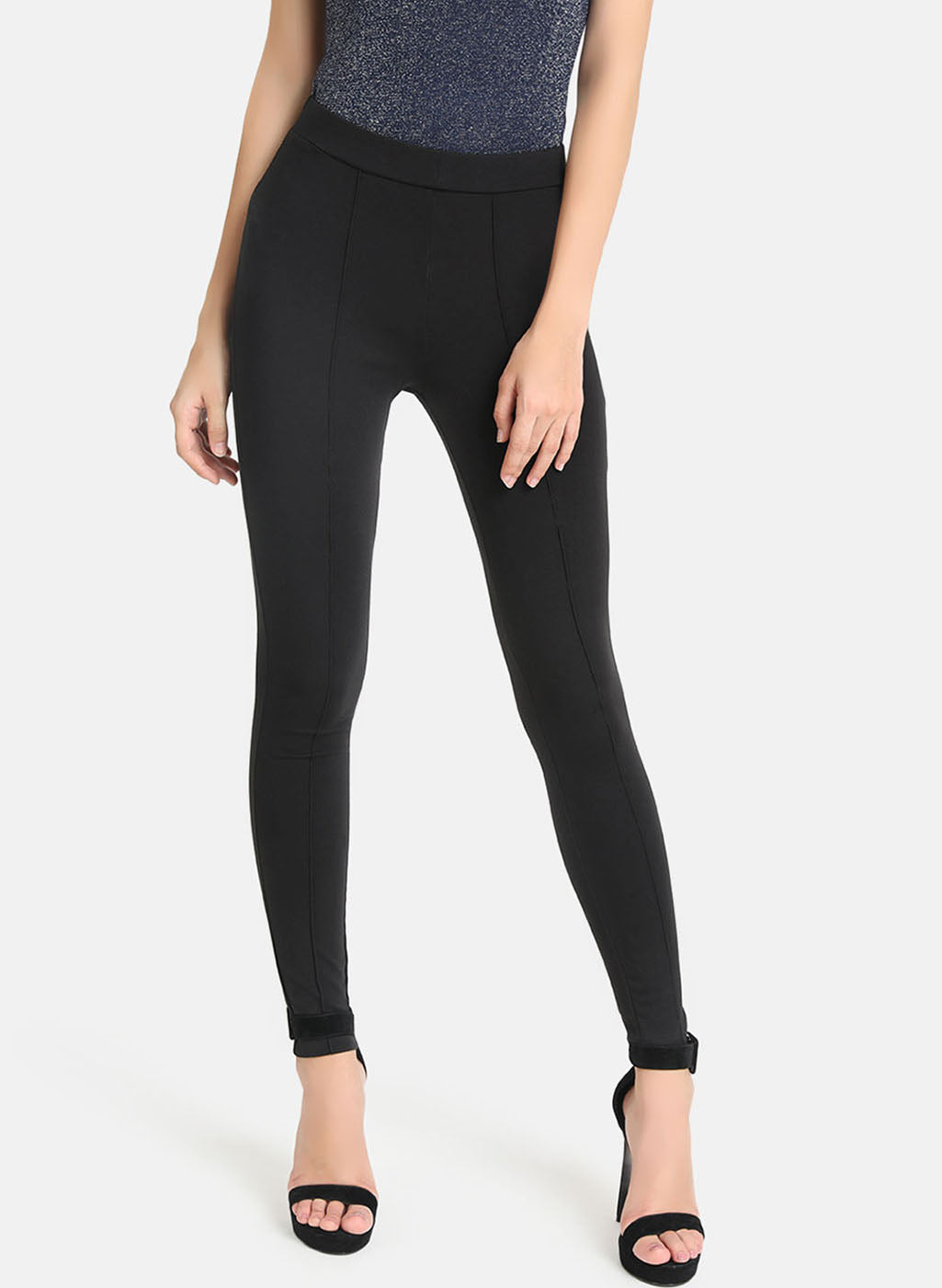Basic Jegging With Pin Tuck Detail