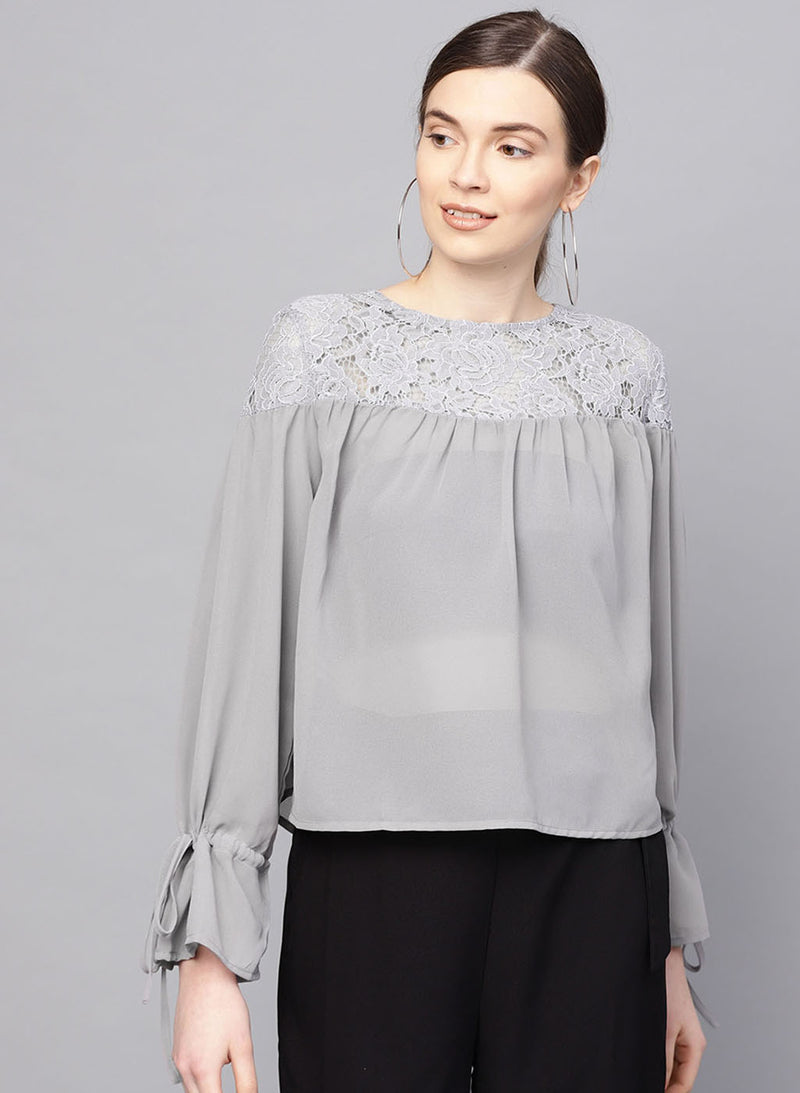 Lace Yoke Top (Additional 20% OFF)