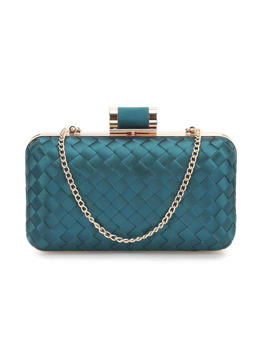 Lana Turquoise Weave Clutch (Buy 2 Get Extra 30% Off)