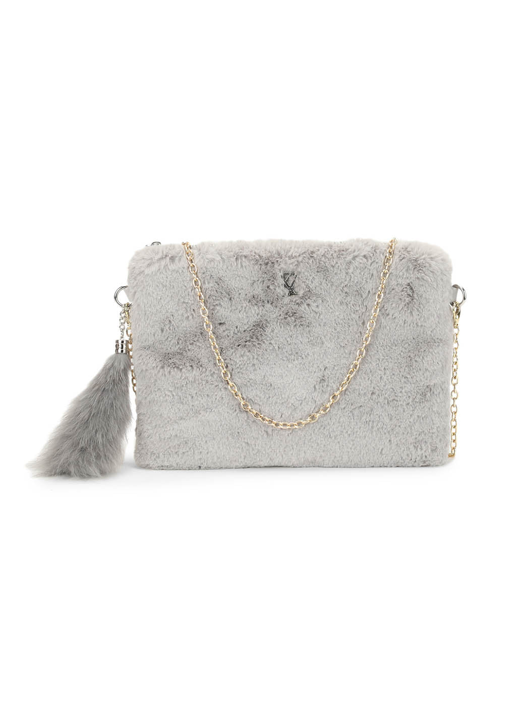 Erin Fur Grey Clutch (Buy 2 Get Extra 30% Off)