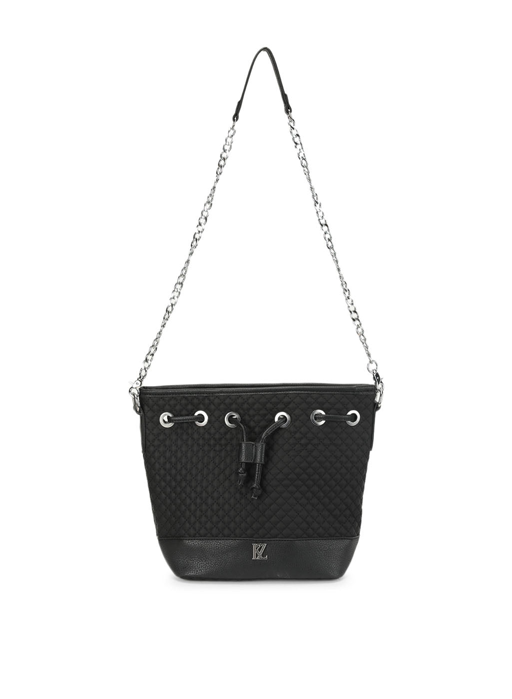 Florence Black Drawstring Sling Bag