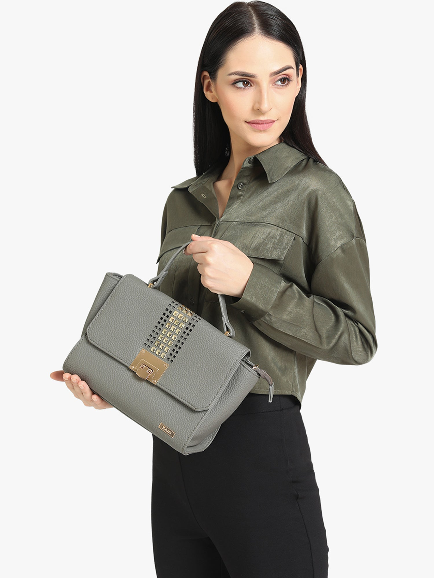 KAZO GREY SOLID SLING BAG