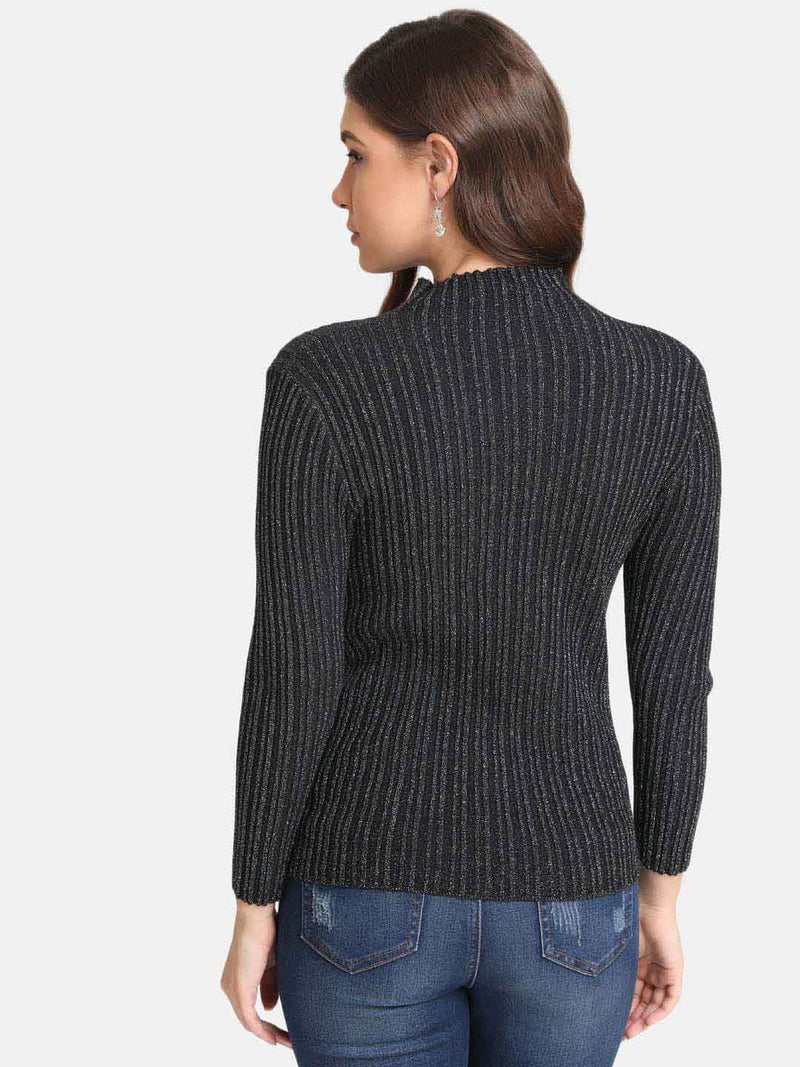 Lurex High Neck Pullover