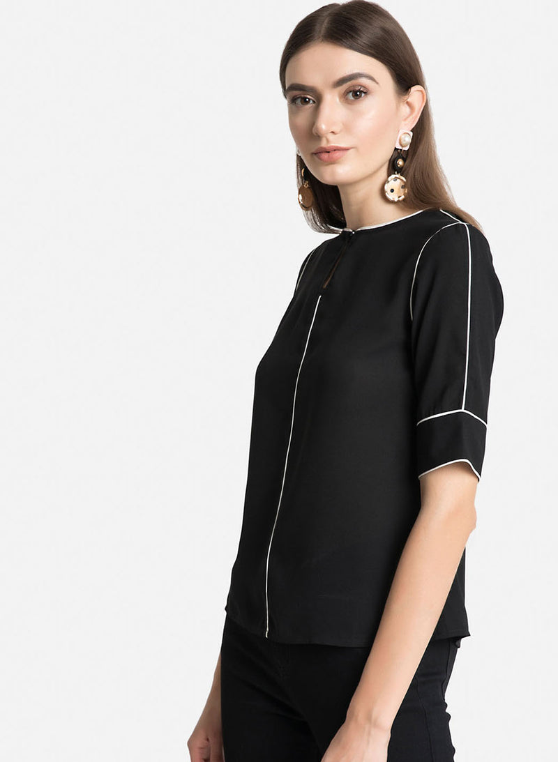 Top With Piping Detailing (Additional 20% OFF)