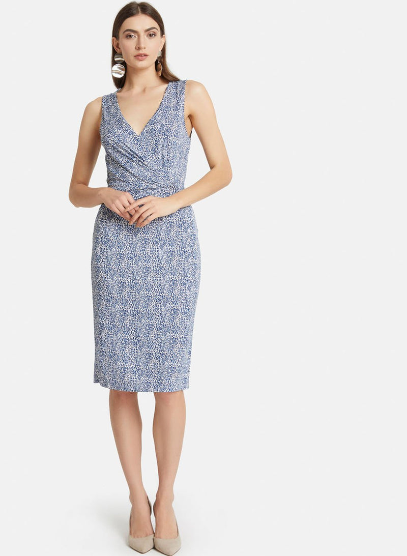 Front-Knotting Detailed Midi Dress