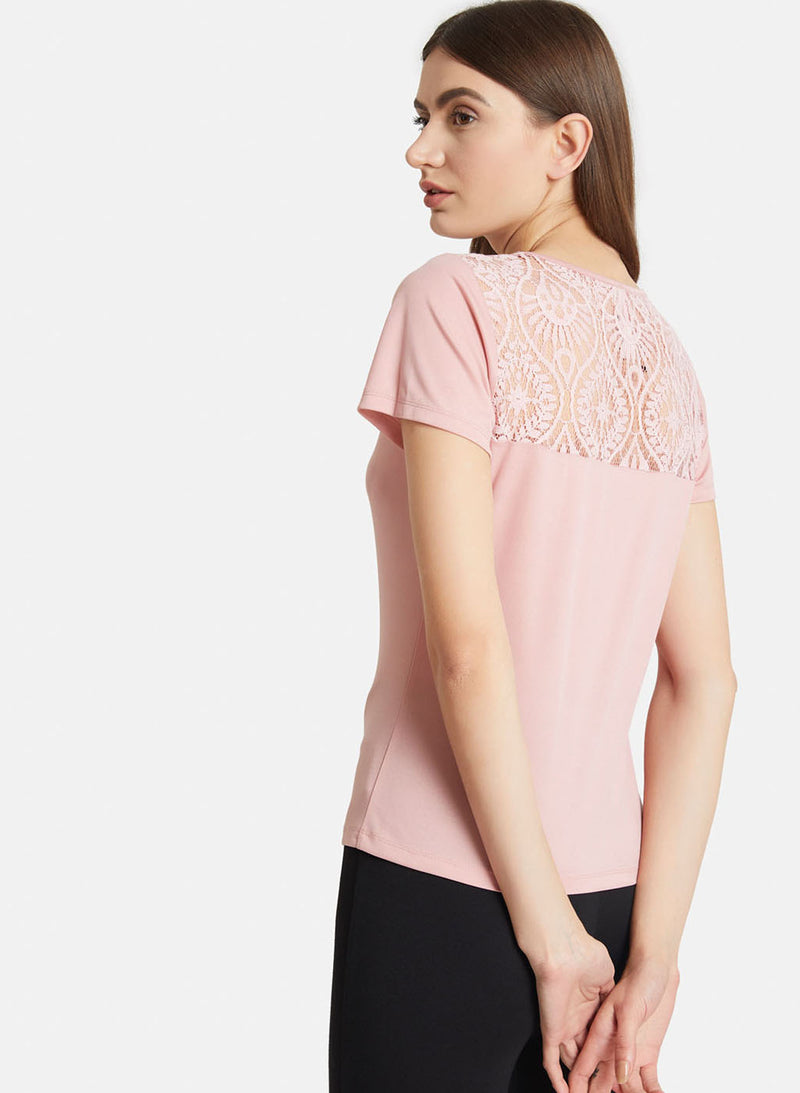 Top With Lace Insert