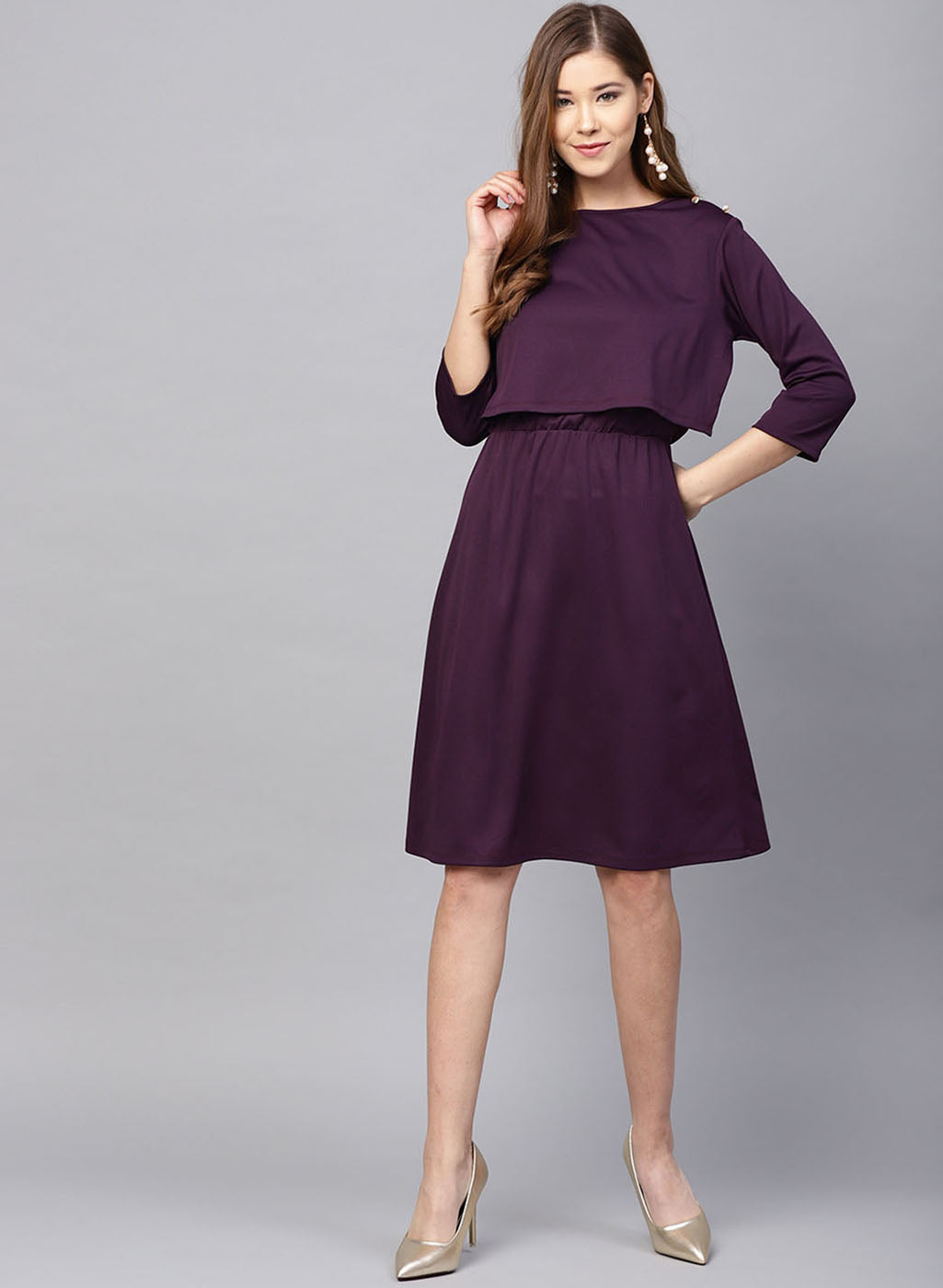 Dress With Overlap Front (Additional 20% OFF)