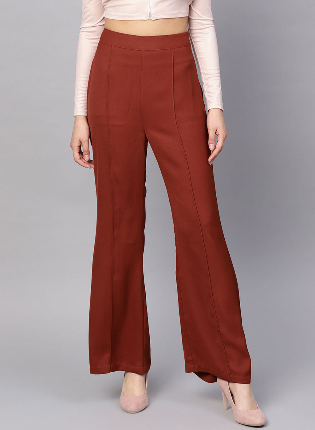 Trouser With Pintuck Detailing