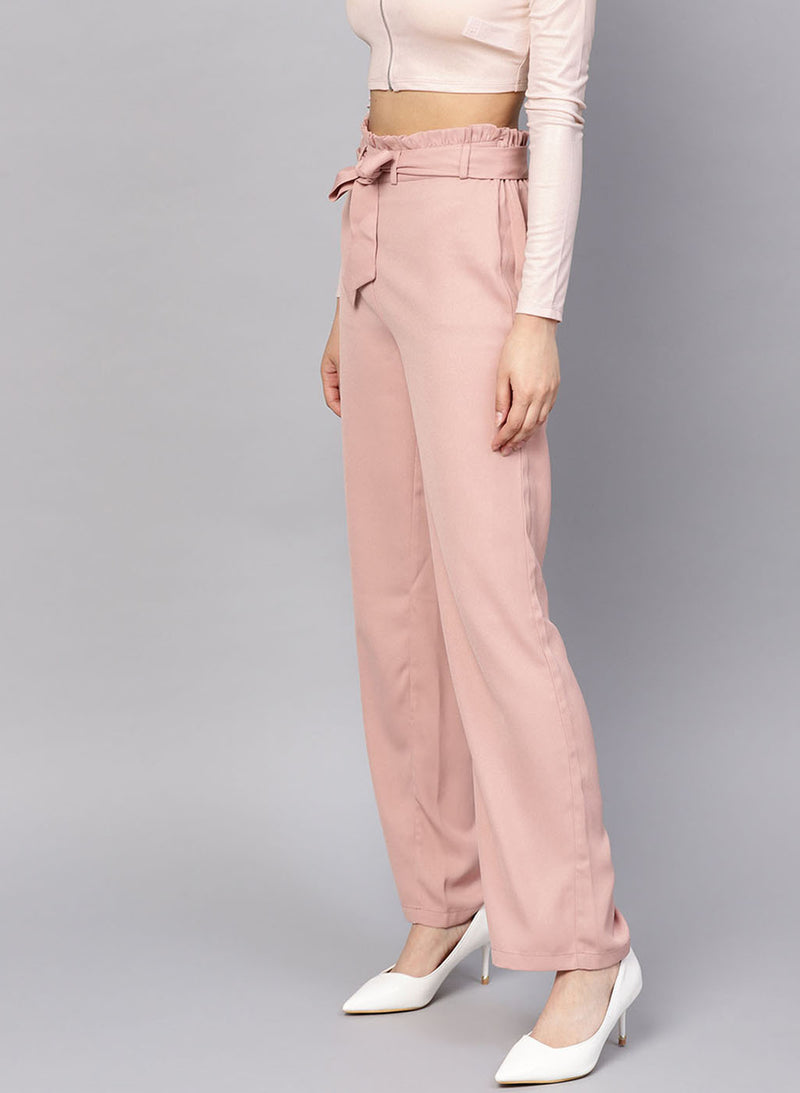 Trouser With Waist Tie Up