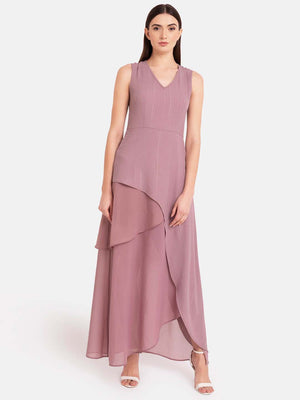 Asymmetric Overlay Dress
