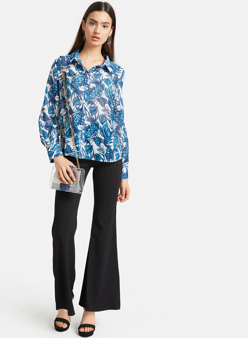 Printed Sheer Shirt