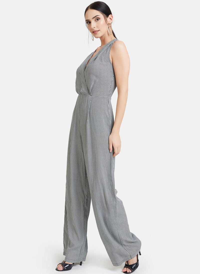 Lapel Collar Jumpsuit