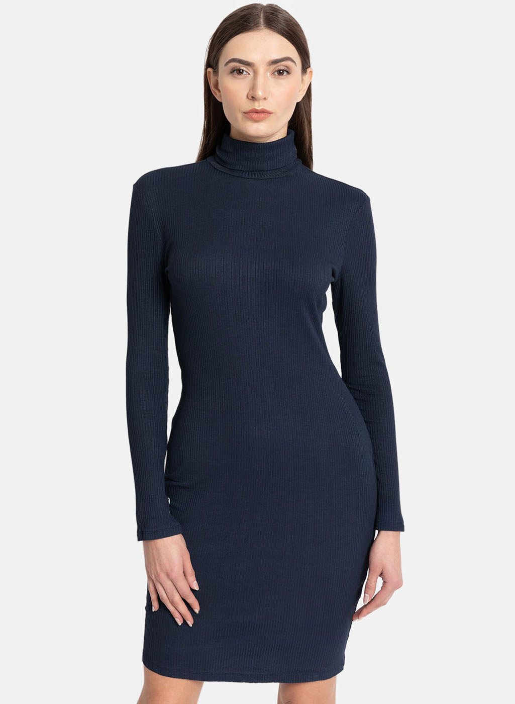 High Neck Button Detail Midi Dress (Additional 20% OFF)
