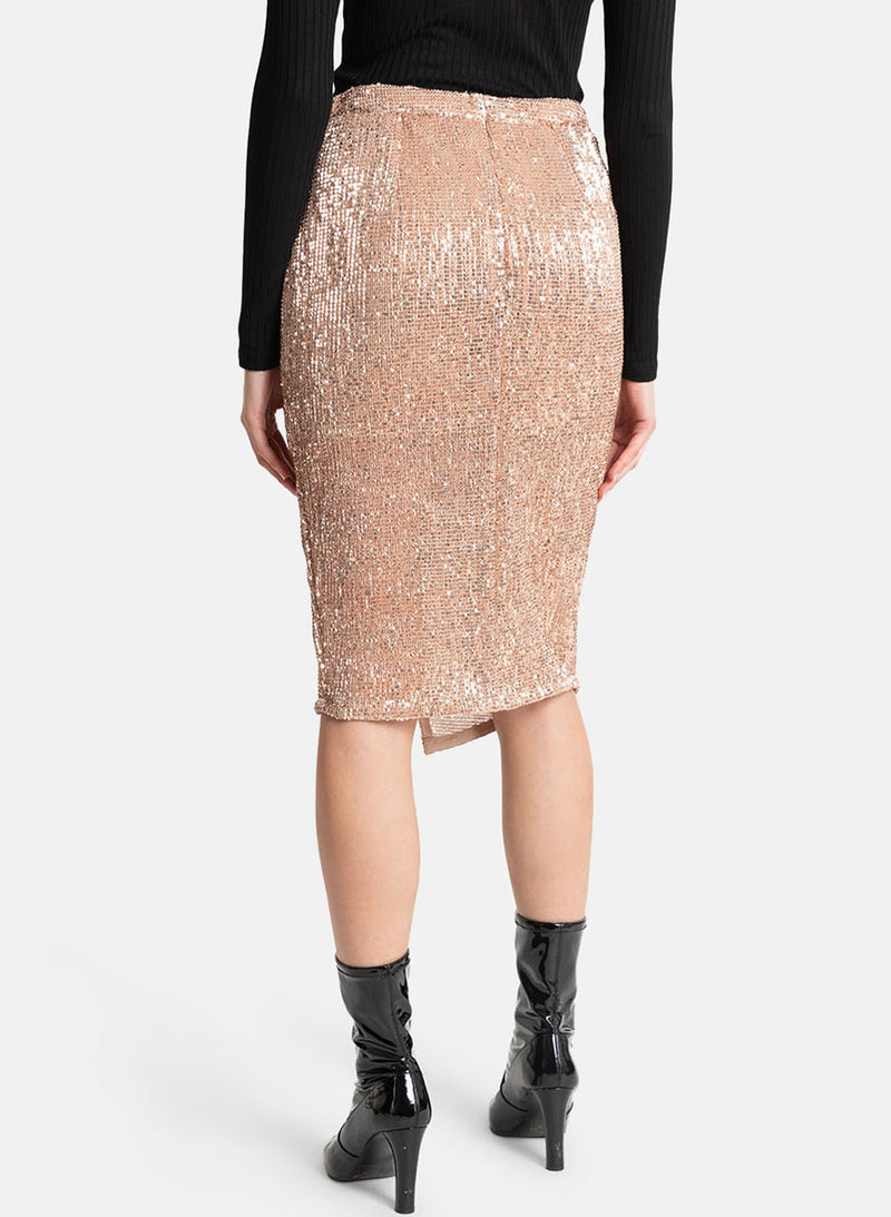 Sequin Stretch Skirt