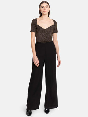 Jumpsuit With Flared Pants And Jersey Top