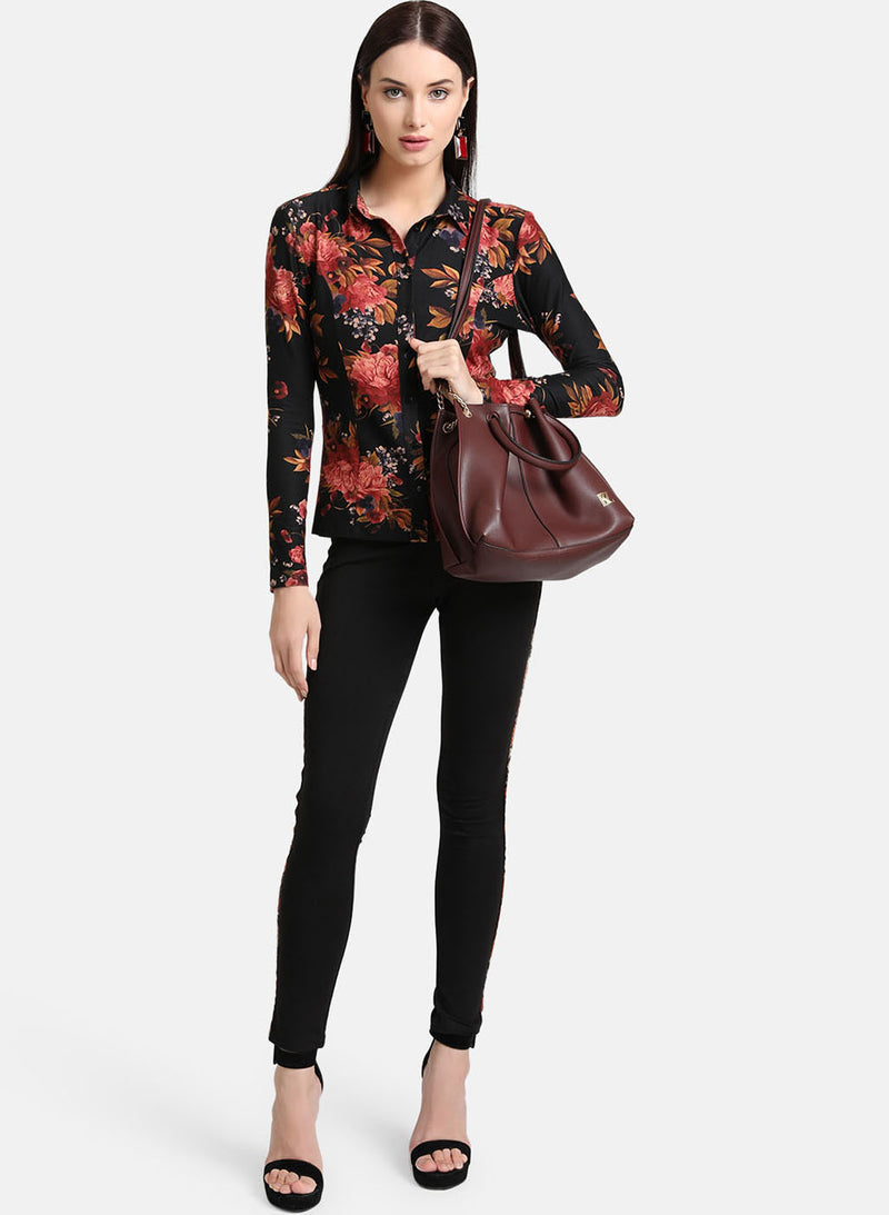 Suede Printed Shirt