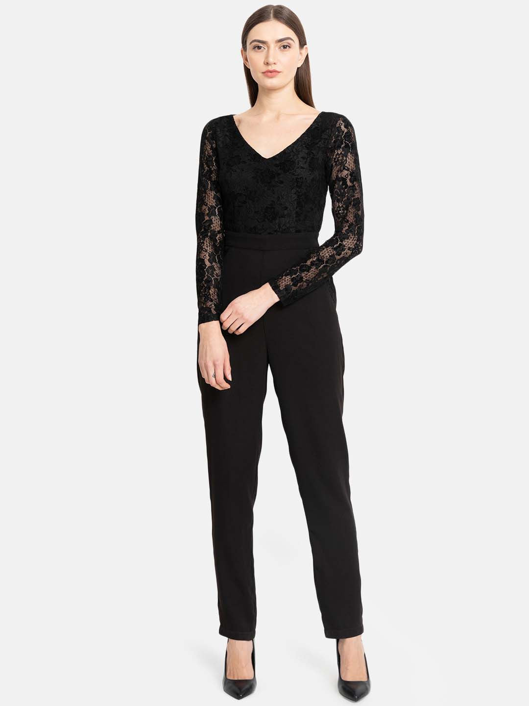 Lace Jumpsuit With Narrow Bottom