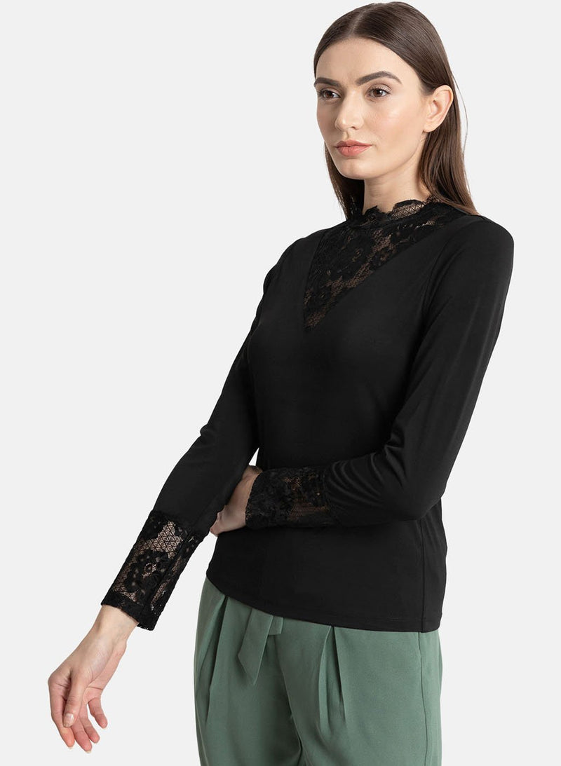 Lace Panel Ity Top