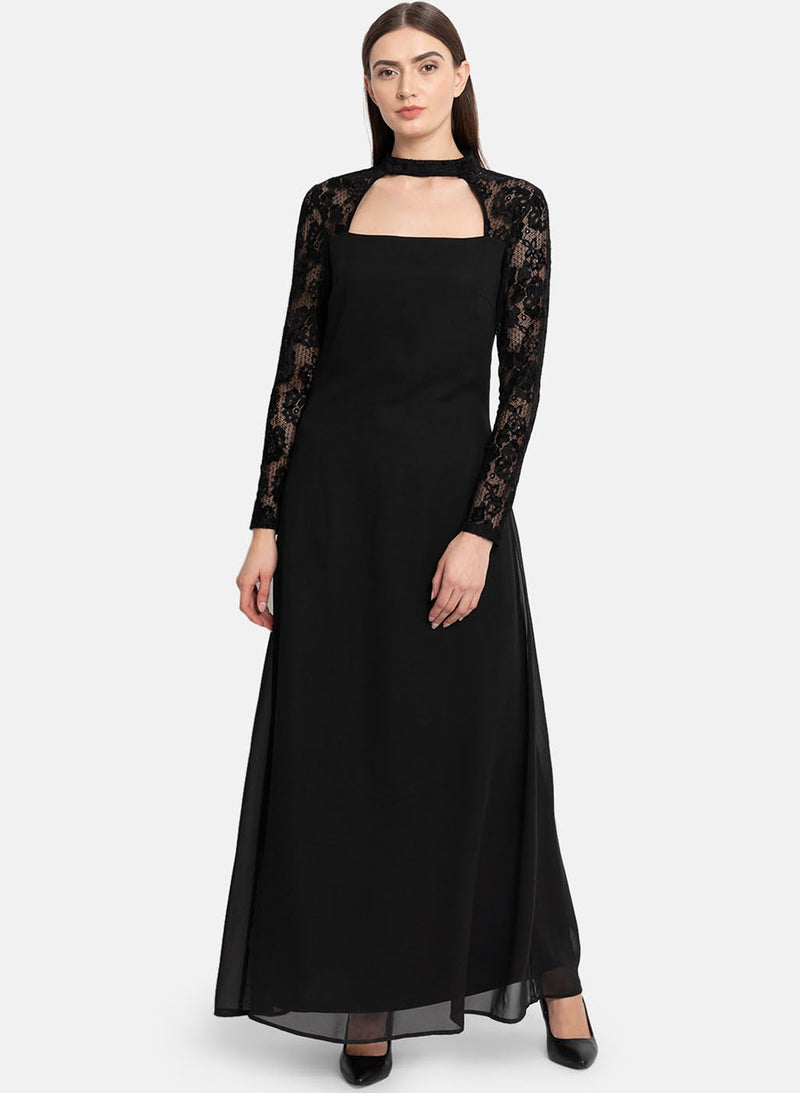 Lace Sleeve Maxi Dress (Additional 20% OFF)