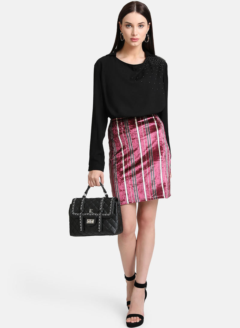 Velvet Mini Skirt (Additional 20% OFF)