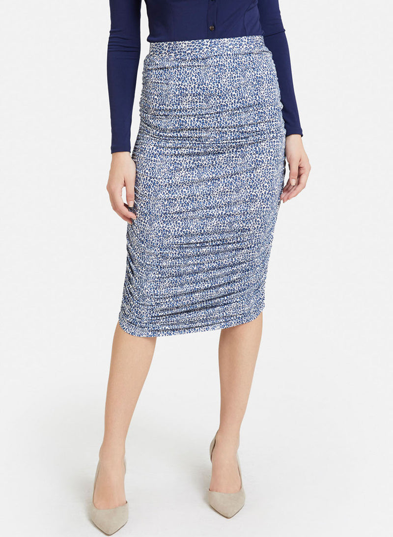 Ruched Animal Print Skirt (Buy 2 or more Get 20% Off)