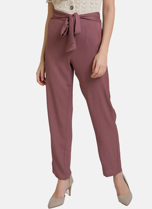 Waist-Tie Up Straight Fit Trouser