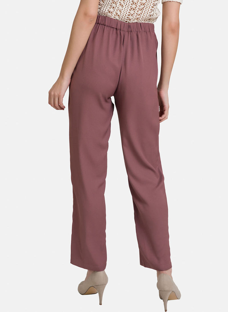 Waist-Tie Up Straight Fit Trouser (Additional 20% OFF)