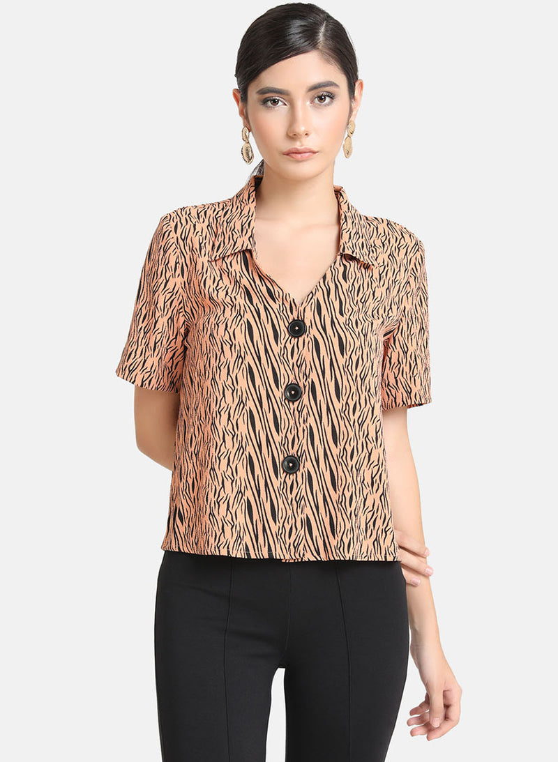 Zebra Printed Shirt (Additional 20% OFF)