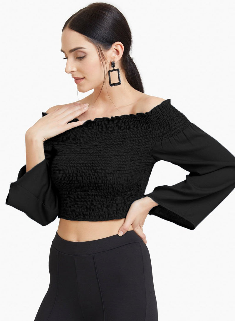 Smocked Off Shoulder Top (Additional 20% OFF)