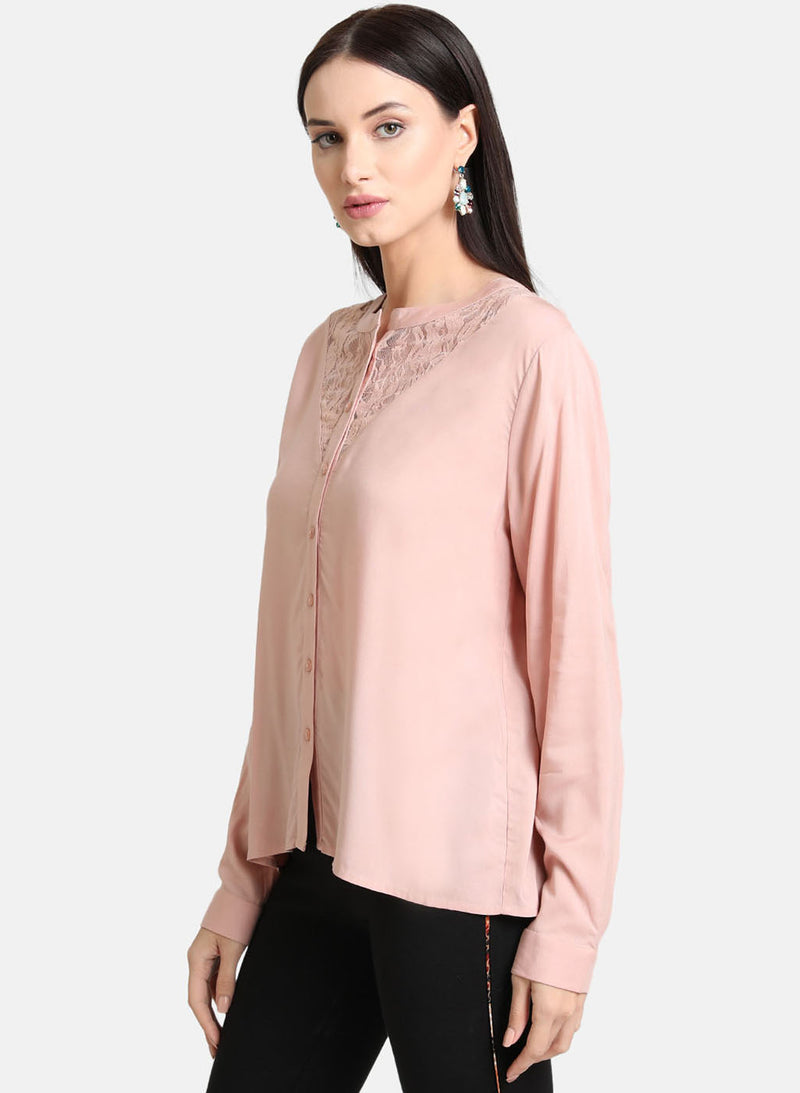 Lace Insert Shirt (Additional 20% OFF)