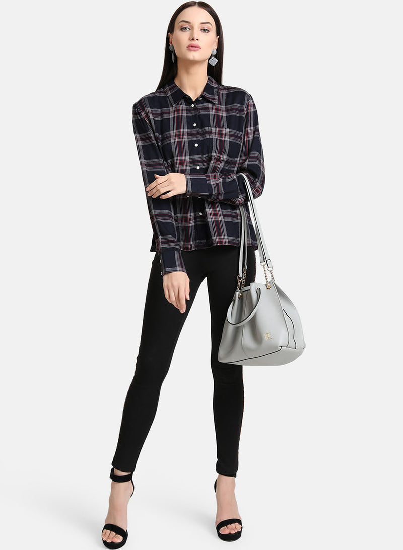 Lurex Checked Shirt (Additional 20% OFF)