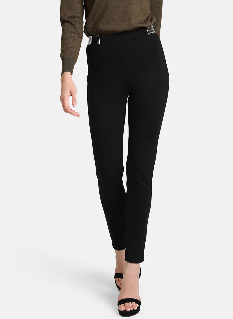 Silver Tape Detail On Waist Jegging (Additional 20% OFF)