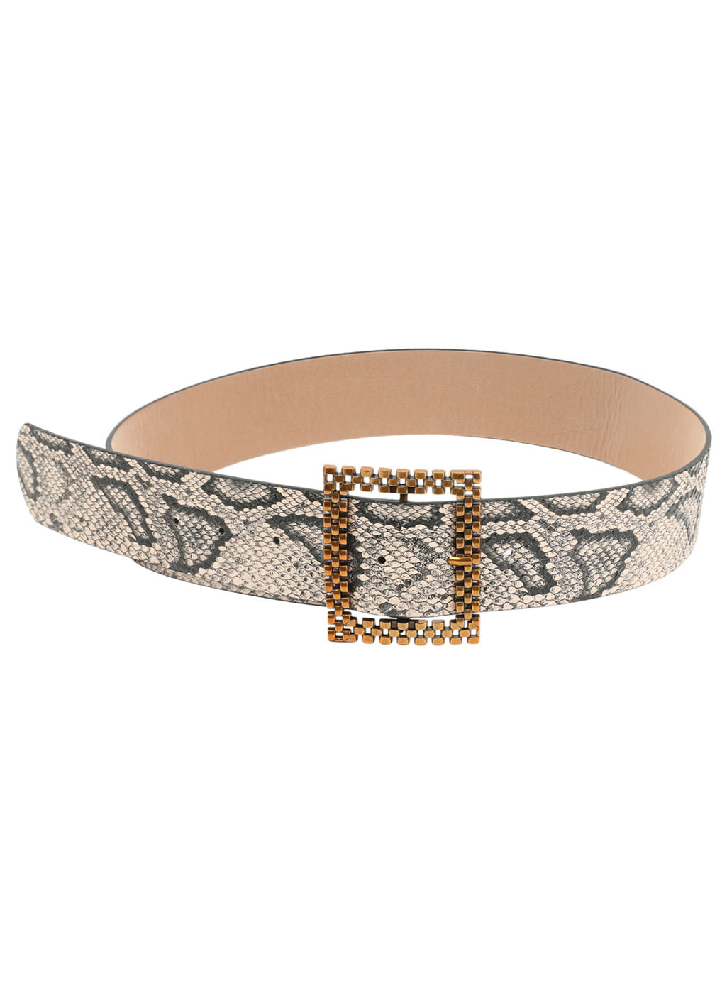 Animal Print Square Buckle Belt