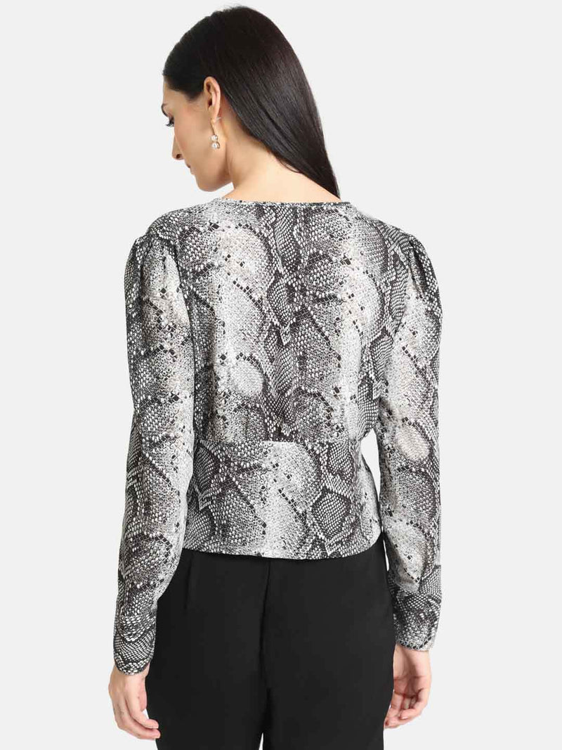 Snake Print Top (Additional 20% OFF)