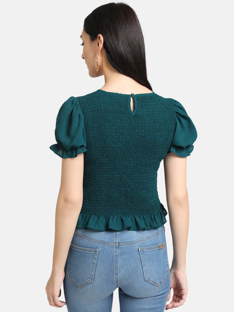 Round Neck Smocking Top (Additional 20% OFF)