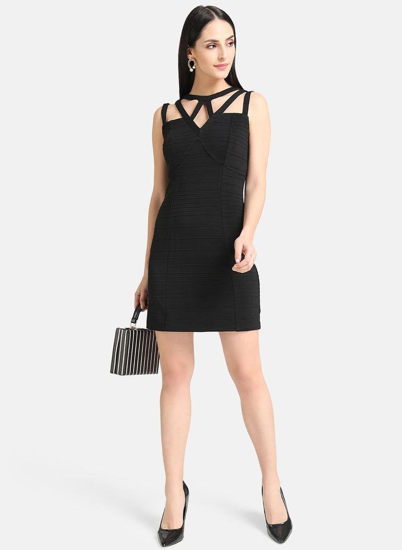 Black Pin Stripe Dress (Additional 20% OFF)