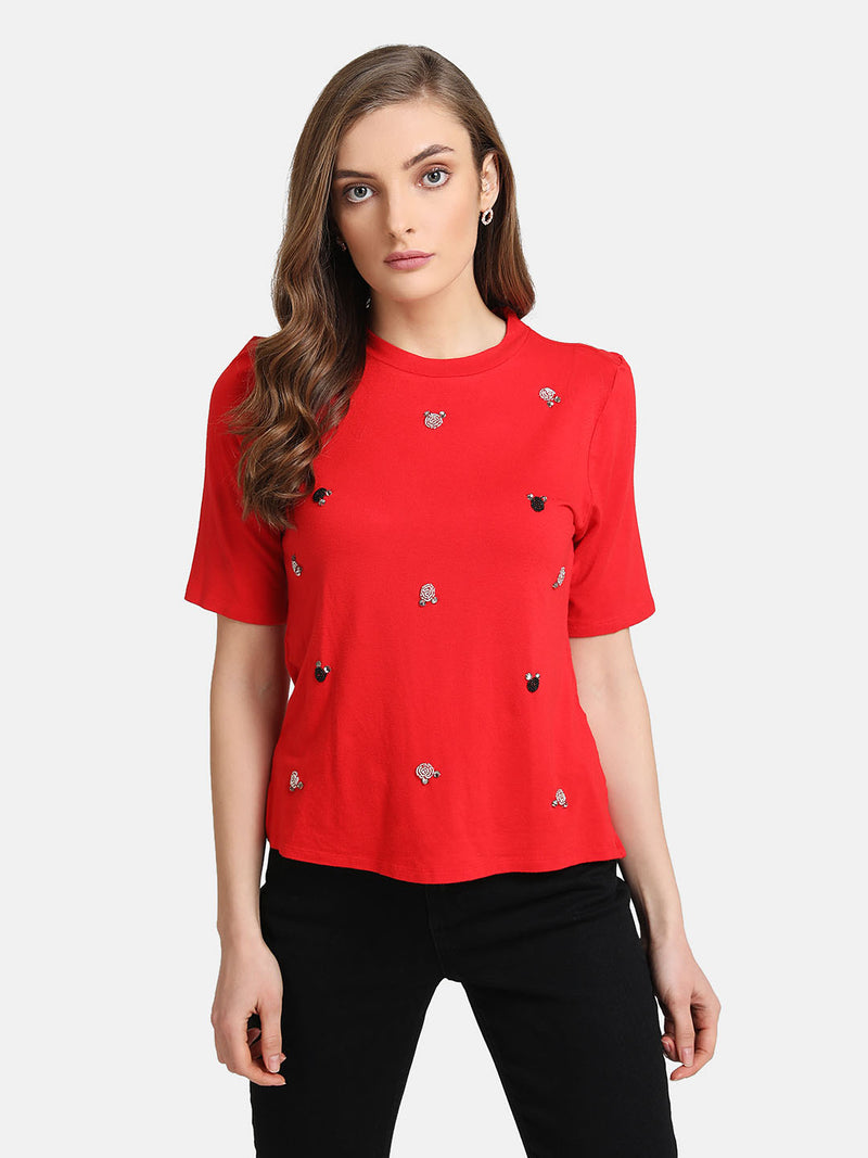 Mickey Mouse  © Disney Sequin Motif T-Shirt