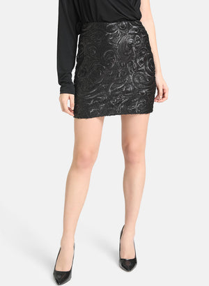Black Sequence Skirt