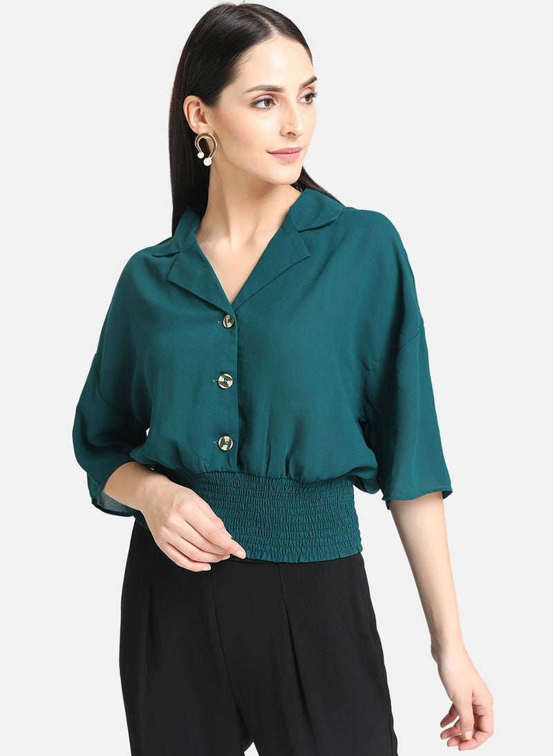 Smocking Shirt With Button Details