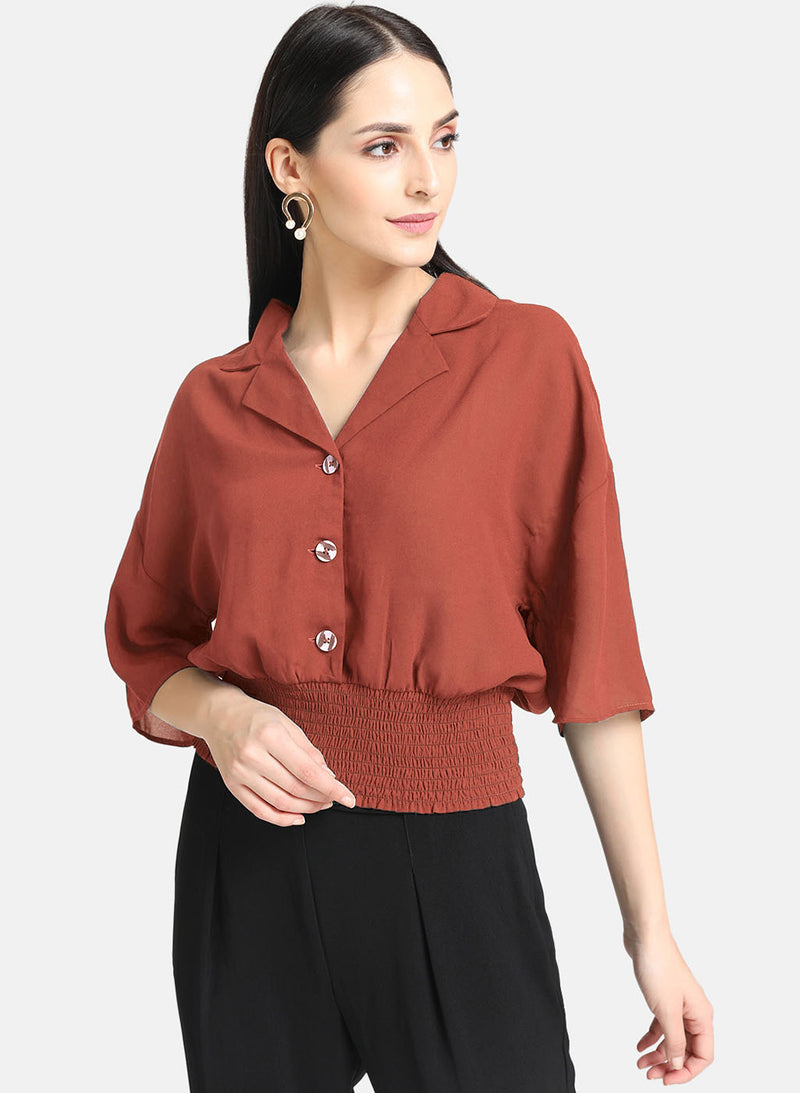 Smocking Shirt With Button Details (Additional 20% OFF)