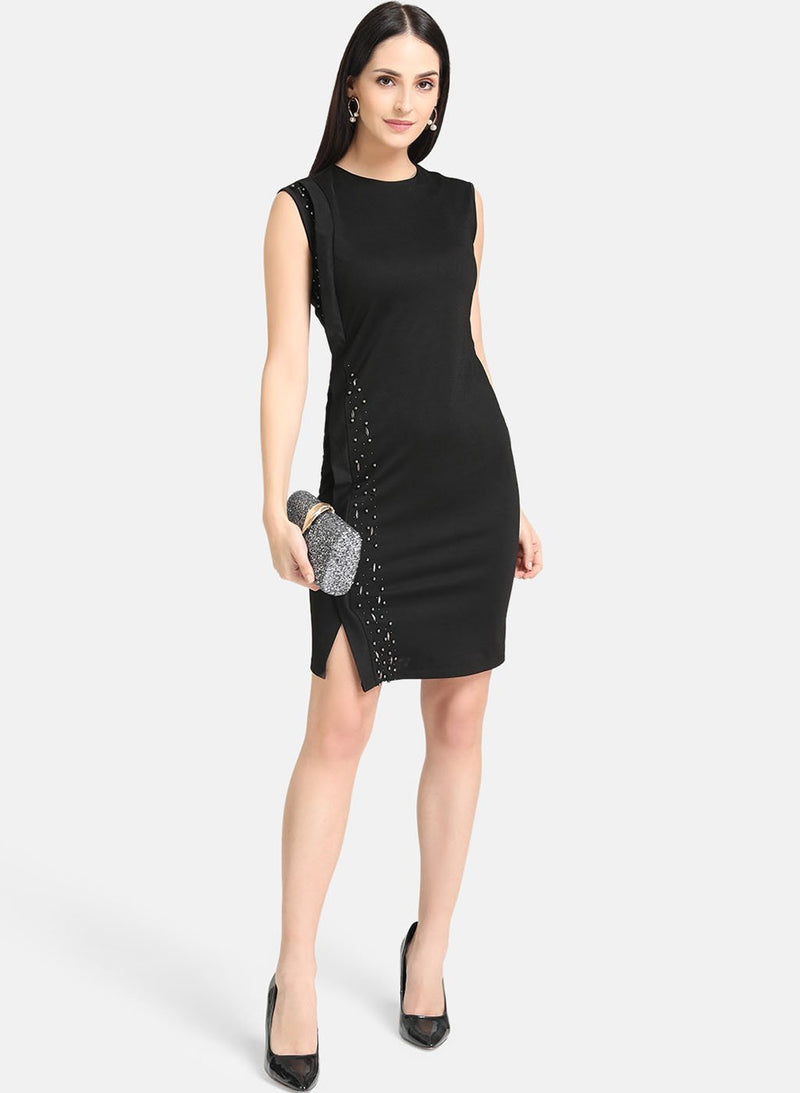 Black Embellished Dress (Additional 20% OFF)