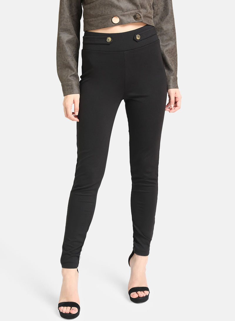 Black Jegging With Button Detailing (Additional 20% OFF)