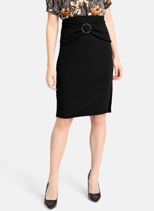 Textured Midi Skirt With Ring (Buy 2 or more Get 20% Off)