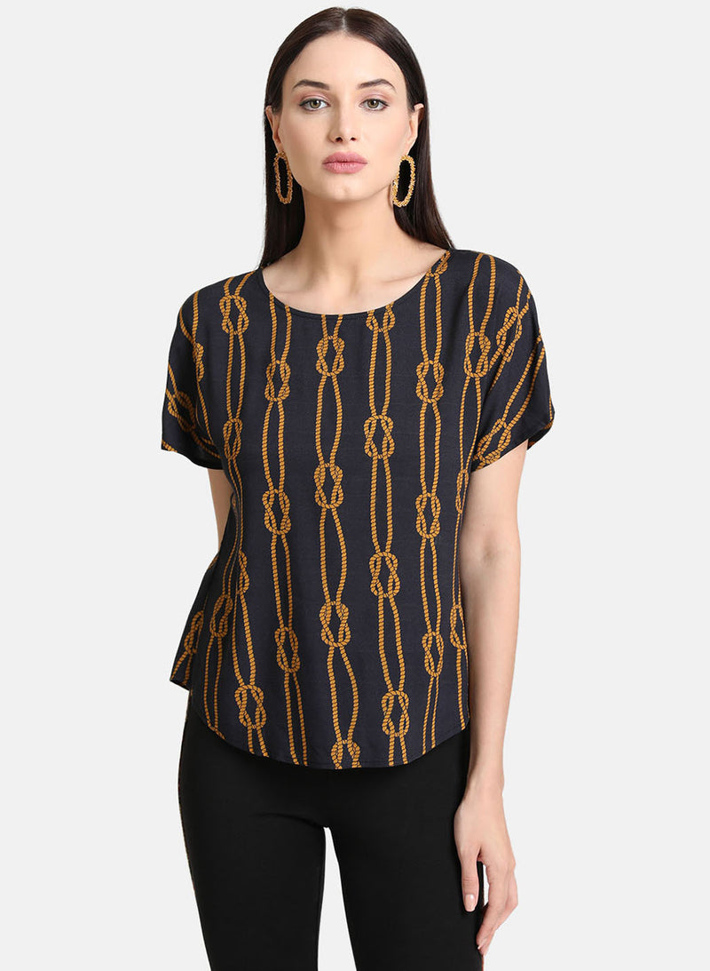 Chain Print Top (Additional 20% OFF)