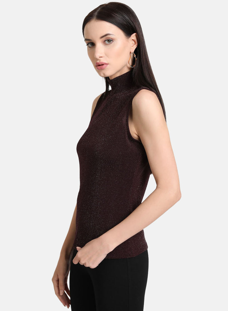 Band Neck Lurex Tshrt (Additional 20% OFF)