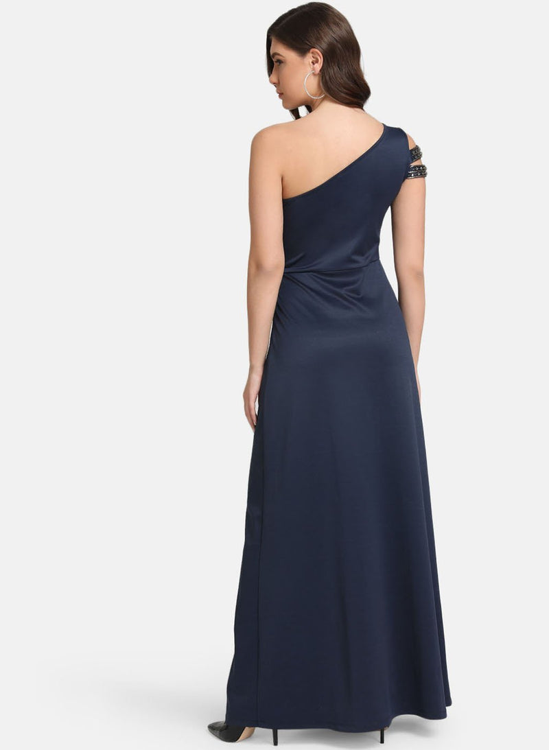 One-Shoulder Maxi Dress With Embellished Straps (Additional 20% OFF)