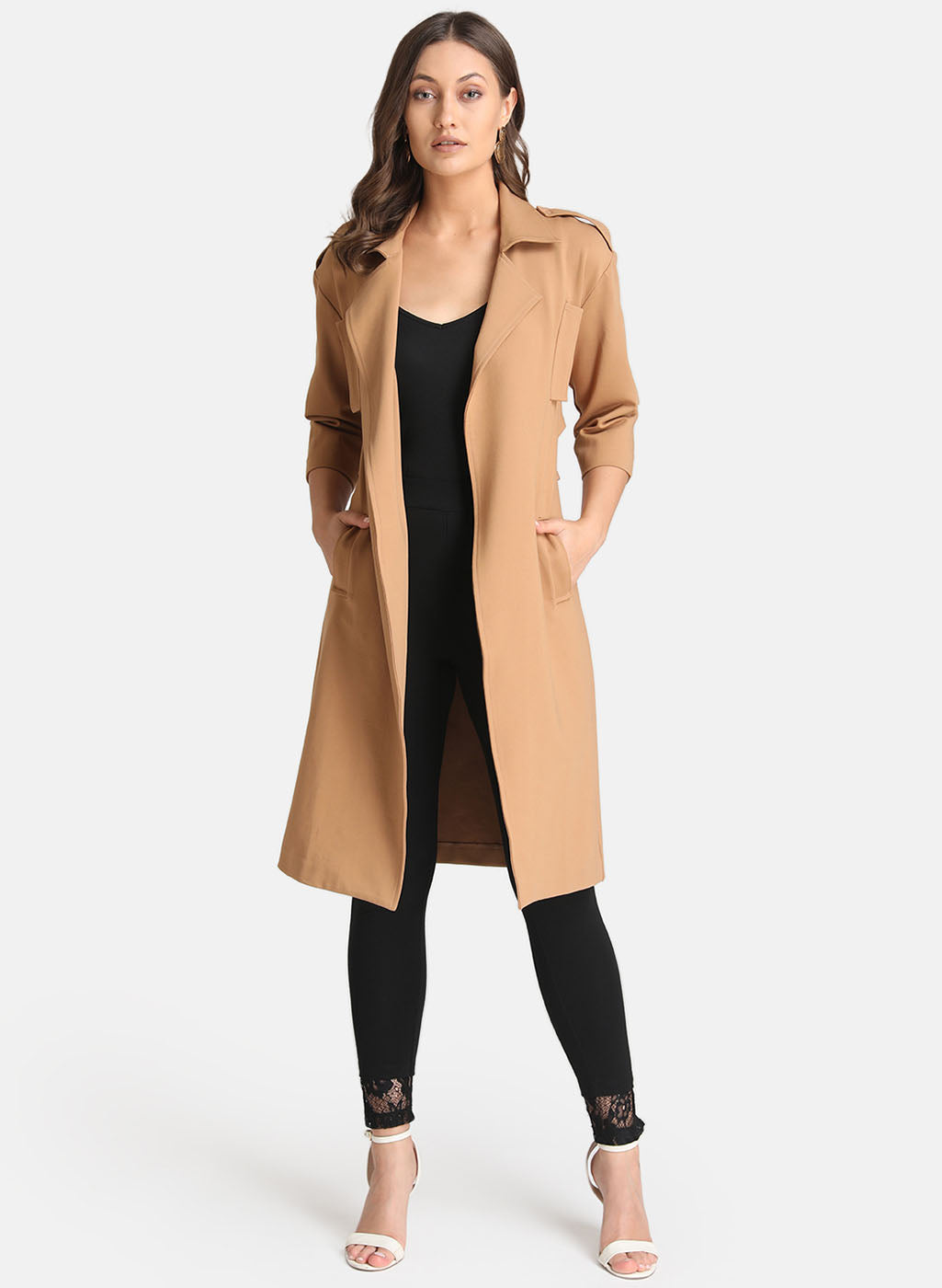 Back Cut Out Overcoat